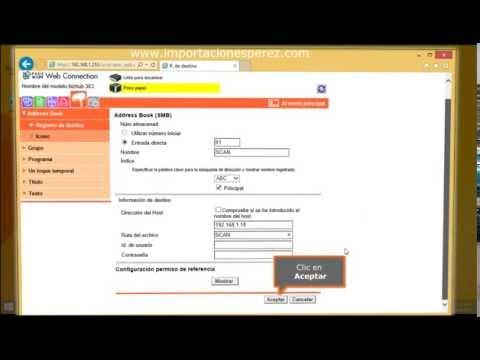[Tutorial] Instalar Scanner Via Web de la Fotocopiadora Bizhub 363/423 C353/253/451