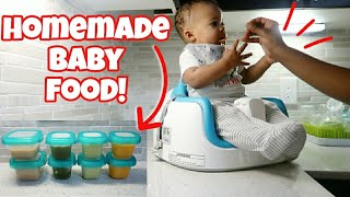 HOW I MAKE MY OWN BABY FOOD! | HOMEMADE BABY PUREES | VLOGMAS 2019 DAY 5