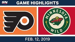 NHL Highlights | Flyers vs. Wild - Feb 12, 2019