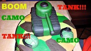 How To Make A Fandant Camo Pattern Cake