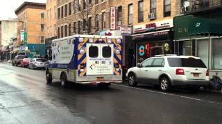 preview picture of video 'BROOKLYN HOSPITAL EMS AMBULANCE CRUISING BY ON 5TH AVE. IN PROSPECT HEIGHTS, BROOKLYN, NEW YORK.'