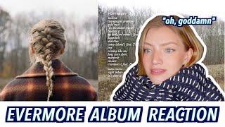 TAYLOR SWIFT EVERMORE ALBUM REACTION
