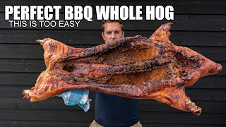 I Smoked a Whole  Pig in my BBQ -- Too Easy
