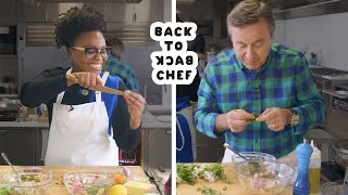 Daniel Boulud Challenges Amateur Cook To Keep Up With Him | Back-to-Back Chef | Bon Appétit