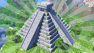 How To Build A MAYA TEMPLE In Minecraft (CREATIVE BUILDING)