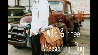 Wild & Free Leather Messenger Bag