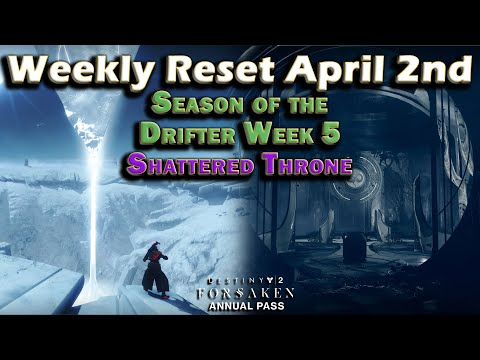 Destiny 2 - Weekly Reset April 2nd - Curse Week 3 - Shattered Throne - Gambit Prime