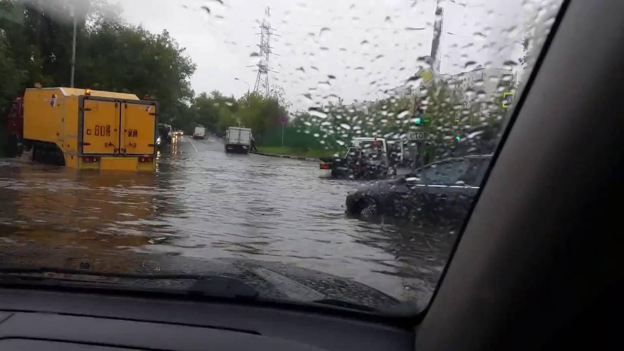 Сильные ливни и потоп в Москве