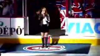 CANADIAN NATIONAL ANTHEM SANG BY CHANTAL CHAMANDY