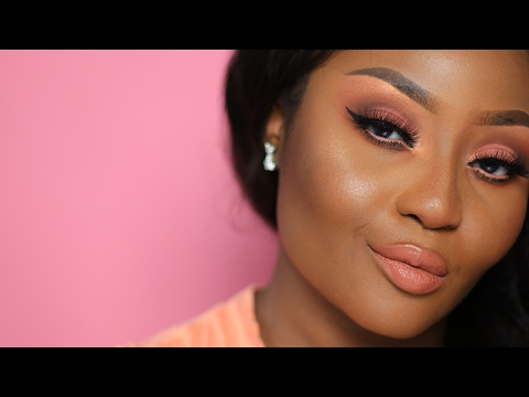 Soft Flirty Nude Pink Peach Makeup Tutorial | Youkeyy