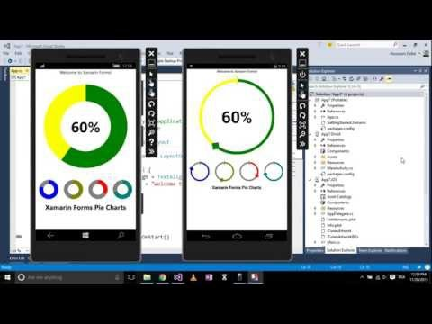Xamarin Android-How to create Pie-Chart with Different