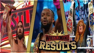WWE WRESTLEMANIA 35 FULL SHOW RESULTS (WWE WRESTLEMANIA 35 RESULTS)
