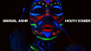 [ASMR] Blacklight UV FacePainting w/ Layered Sounds for Relaxation