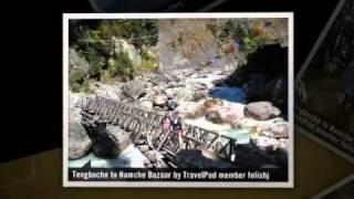 preview picture of video 'Pangboche to Namche Bazaar (via Tengboche) Felishj's photos around Everest Region, Nepal'