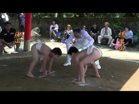 種子島の学校活動:榕城小学校榕あこう相撲大会1〜6年生取組ダイ