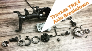 Traxxas TRX4 Axle Disassembly - Portals & Selectable Locking Differentials