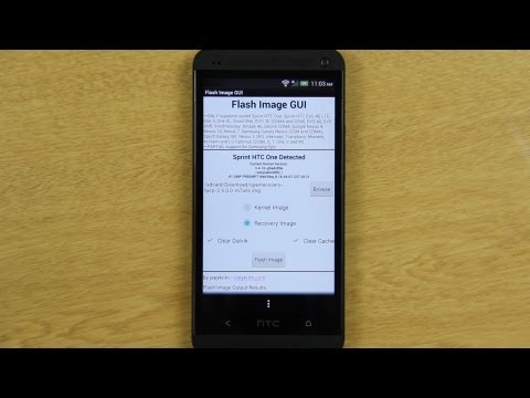 Flash Image GUI on the HTC One - YouTube ▶5:53