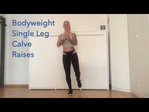 Bodyweight Single Leg Calf Raises