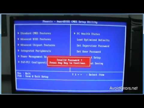 reset password BIOS ยังไงครับ - Pantip