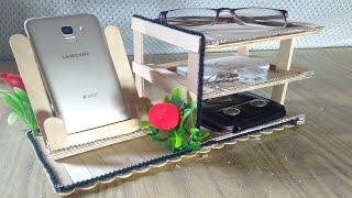 Mobile Stand Homemade || Decorative Showpiece For Home Decor || Ice Cream Stick Craft || DIY Crafts