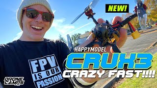 CRAZY FAST!!! - Happymodel Crux3 Micro Brushless Quad - REVIEW & FLIGHTS