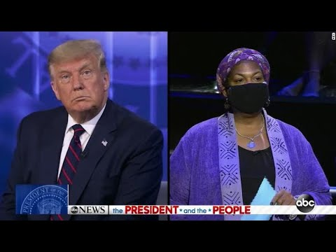 Trump LIES About Medicare For All To Woman w Pre-Existing Condition