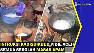 VIDEO - Instruksi Kadisdikbud Pidie Semua Sekolah Masak Apam