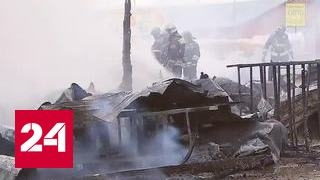 Мощный пожар в Новой Москве обошелся без пострадавших