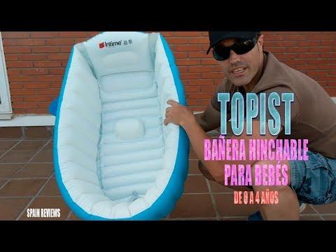 Topist - Bañera hinchable para bebés de 0 a 4 años