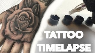 TATTOO TIME LAPSE / HAND ROSE / CHRISSY LEE