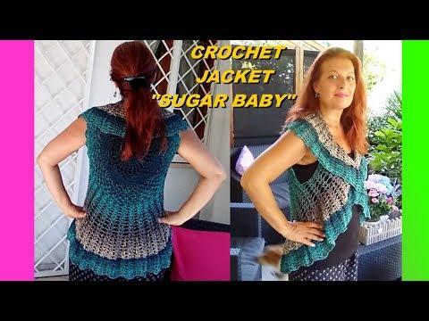 Crochet Mandala Bolero Vest Sugar Baby Any Size Tutorial Easy And