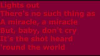 Boys Like Girls - Shot Heard Round The World - Lyrics
