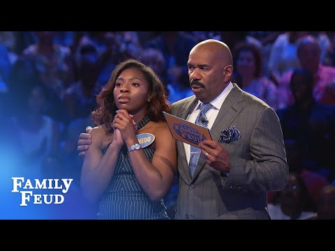 The Echebelems go for BIG BUCKS! | Family Feud