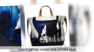 Coach Bags コーチ James Nares Tote メンズトートバッグ 70684 青