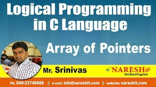 Array of Pointers | Logical Programming in C | by Mr.Srinivas