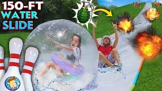 WATER SLIDE OLYMPICS!  FV Familys' 150ft Slip & Slide Challenge Games