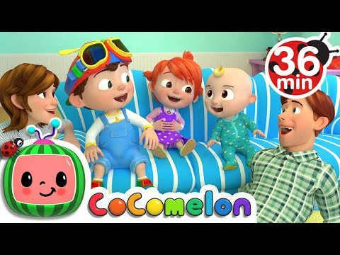 Laughing Baby with Family | +More Nursery Rhymes & Kids Songs - ABCkidTV