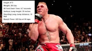 Brock Lesnar insane NFL Combine results