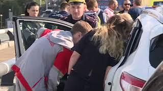 Четыре недешевых авто столкнулись на Некрасовском путепроводе