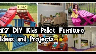 17 DIY Kids Pallet Furniture Ideas And Projects