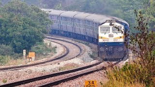 Fantastic Rounded Gradient climbing by Angry KJM WDP -4D 40527 Locomotive || South Western Railway