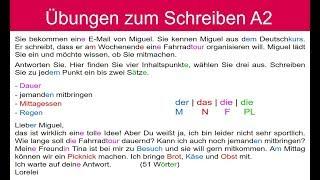 Deutsch Prüfung Modul Schreiben A 1 A 2 B 1 Der Informelle