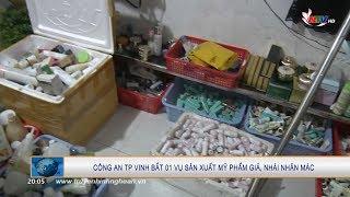TP Vinh: Phát hiện cơ sở sản xuất, thu giữ gần 10.000 lọ mỹ phẩm nhái thương hiệu nổi tiếng
