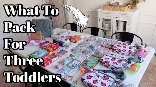 Road Trip With Three Toddlers   Pack With Me   What To Pack For Toddlers