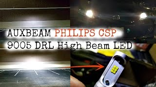 Auxbeam F-S3 Philips CSP 9005 DRL High Beam LED Review And Comparison