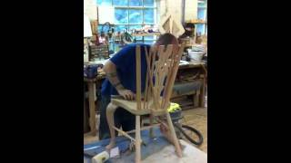 preview picture of video 'Chair making at Stewart Linford Chairmaking in High Wycombe (Windsor Chair)'