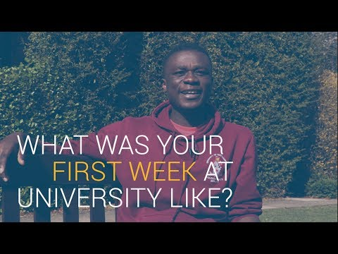 What was your first week at University like? | University of Southampton