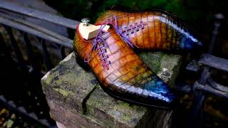 Crocodile Leather Shoes Hand Painted By Alexander Nurulaeff