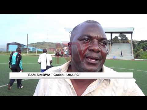 URA EDGE PAST POLICE: Majwega scores solitary goal at FUFA technical centre