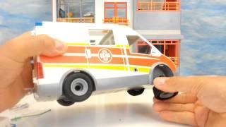 Playmobil Krankenwagen mit Blaulicht Sirene 6685 auspacken seratus1 Kinderklinik